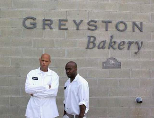 "Greyston Bakery employees Raymond Wallace, left, and Dion Drew, right, were featured in the ""Today Show's"" Hope to It segment."