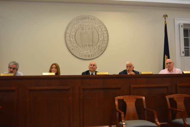 The Bedford Town Board at its July 15 meeting.