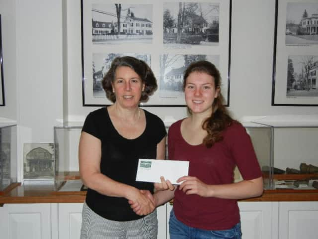 Fox Lane Senior Emma Duggan earns scholarship from Bedford Historical Society.
