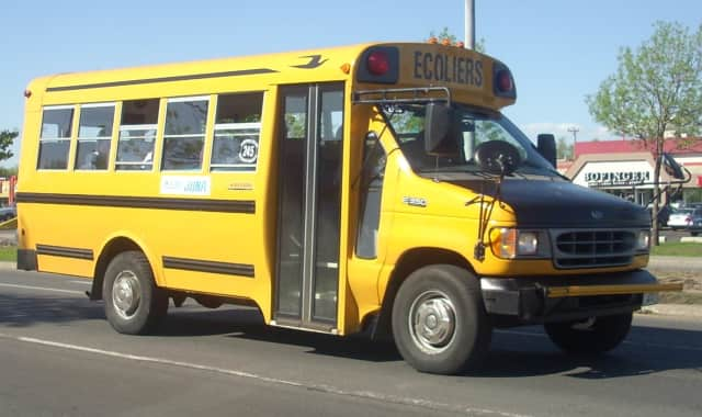Westchester County Board of Legislators' Chairman Michael B. Kaplowitz voted to purchase a 2008 Ford E350 for the town of Yorktown for $1. A Ford E350 is used as a school bus (above).