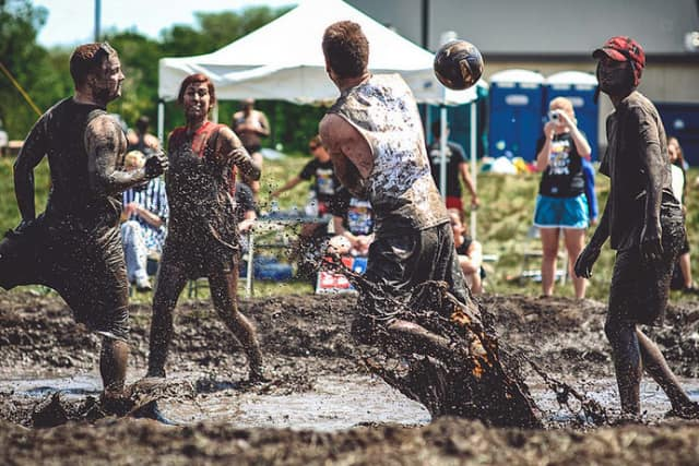 """Participants are shown at a past year's Muddy Puddles """"Mess Fest"""" to benefit pediatric cancer research. This year's fundraiser for the Ty Louis Campbell Foundation is Saturday, July 30 at Kiwi Country Day Camp, Mahopac, N.Y."""