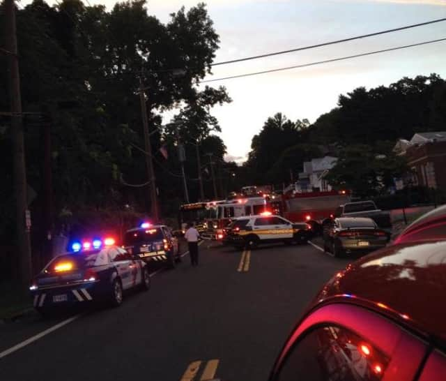The scene of the fatal accident at 87 North Riverside Ave. in Croton-on-Hudson Thursday night.
