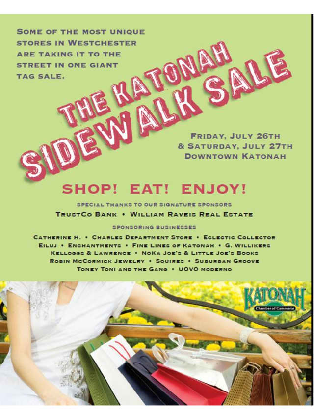 Enjoy once-a-year deals at Katonah's annual sidewalk sale on Friday, July 25, and Saturday, July 26.
