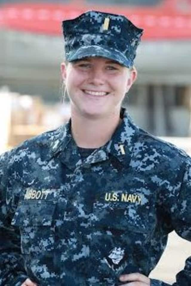 Wilton native Jennifer Abbott is serving in the U.S. Navy aboard the USS Somerset.