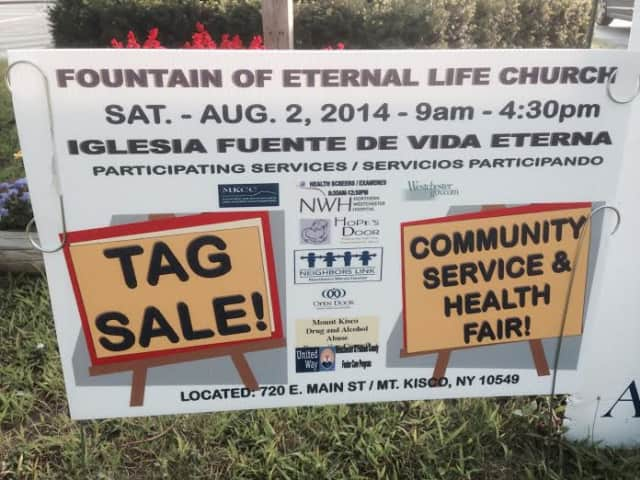 Fountain of Eternal Life welcomes the community for health screenings and a tag sale on Saturday, Aug. 2.
