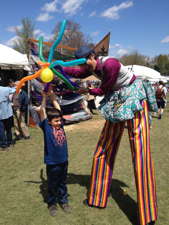Stilt walkers are among some of the forms of entertainment that will be held at Crafts at Lyndhurst.