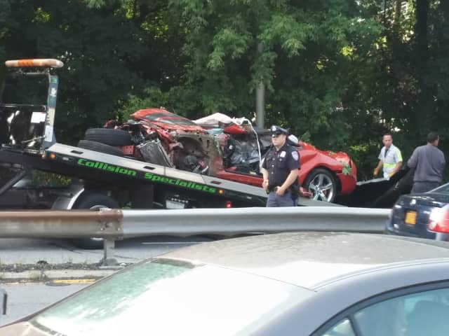 The Harrison man who died in this crash on the Saw Mill River Parkway last week was buried Tuesday.