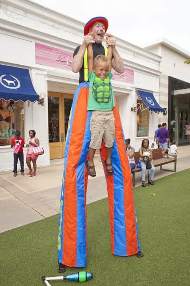 A stilt walker will be among the entertainment at Bergenfield's Family Fun Day..