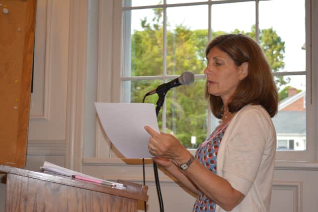 Susan Van Dolsen, speaking at a Somers Town Board meeting.
