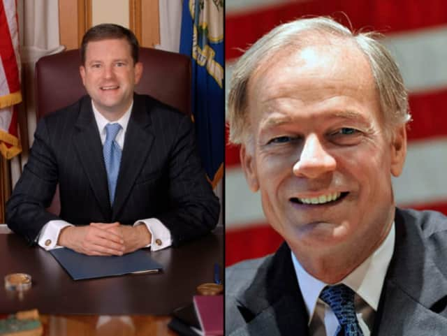 State Sen. John McKinney, left, and Tom Foley, right, are vying for the Republican nod for governor in Tuesday's primary.