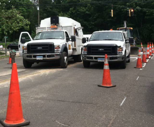 Work is continuing on the gas line expansion in Wilton.