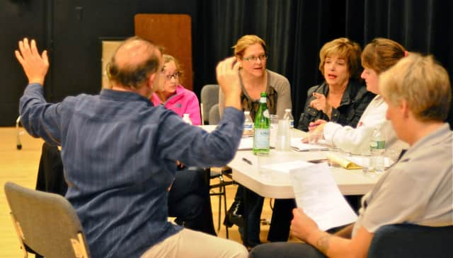 "Darien Arts Center Stage committee discusses the upcoming production of the 2009 Tony Award winner for Best Play, ""God of Carnage,"" by Yasmina Reza."