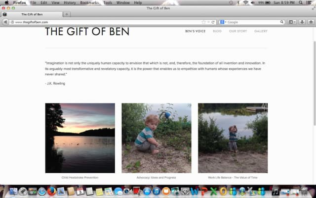 """Lindsey Rogers-Seitz started the website called """"The Gift of Ben"""" in memory of her son, who died July 7 after he was left in a hot car by his father, Kyle Seitz, while he was at work."""
