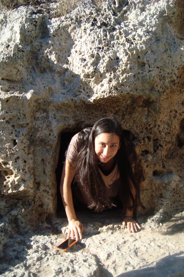 Emilia Litwak is shown participating  in archaeological dig in the ancient Roman cty of Pollentia.