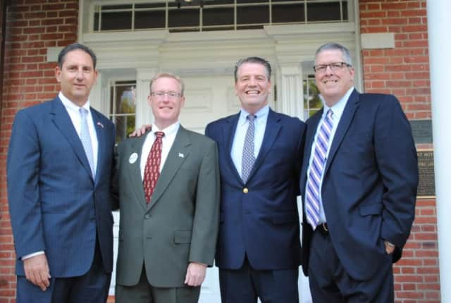 Terrence Murphy, second from right, was endorsed by members of the Somers Town Board recently.