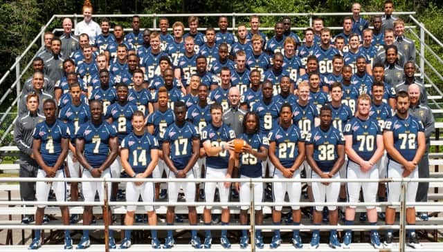 Pace University football players.