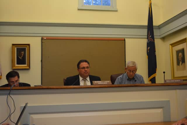 North Salem Town Board members at their Aug. 26 meeting.