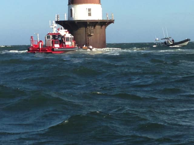 A Mount Kisco man was injured during a boating accident on Long Island Sound Tuesday.