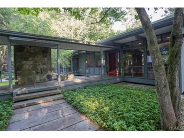 This house at 72 W. Shad Road in Pound Ridge is open for viewing on Sunday.