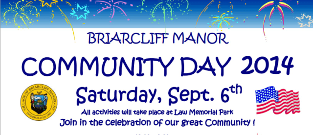 Briarcliff Manor Community Day will be held in September, and will feature a sleu of activities.