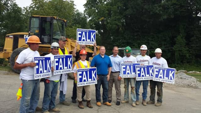 Andrew Falk is endorsed by The Laborers International Union of North America Local 60.