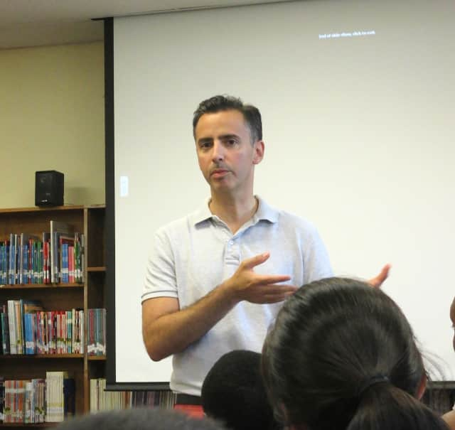 Ossining Superintendent of Schools Ray Sanchez met members of the community.