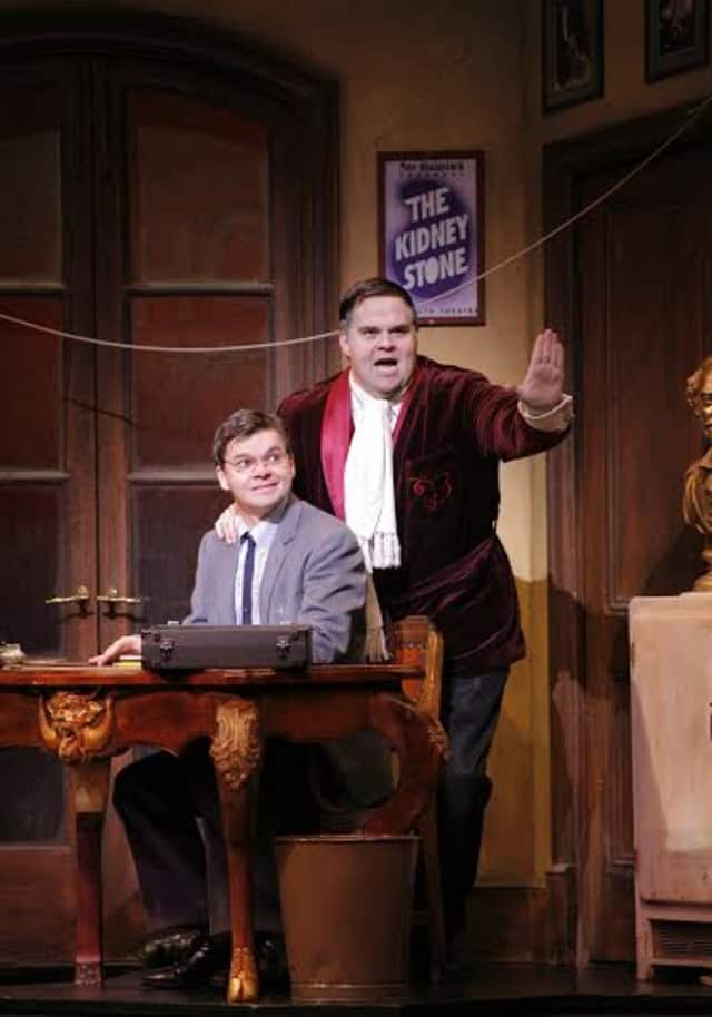 """John Treacy Egan (right) star of """"The Producers"""" will join with friends in performing an evening of classic Broadway show tunes on Saturday, Sept. 6 at Untermyer Park in Yonkers."""