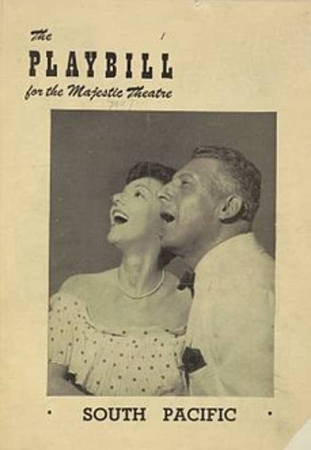 """The original """"South Pacific"""" playbill."""