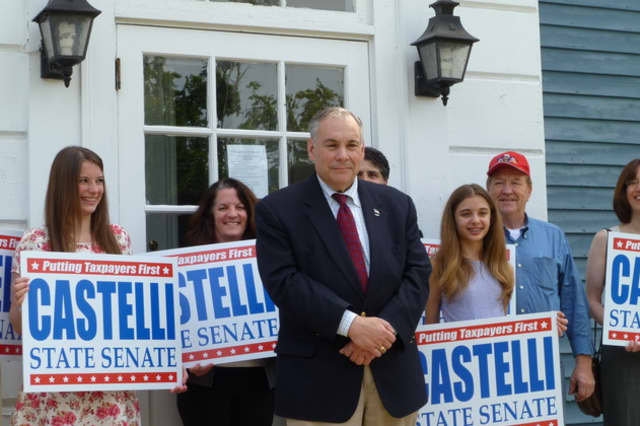 Former Assemblyman Bob Castelli is running in the Republican primary on Tuesday.
