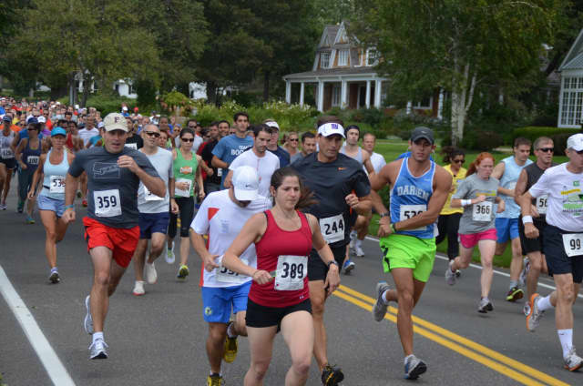 The 2014 Darien Road race takes off on Sep. 14 at Pear Tree Point Beach.