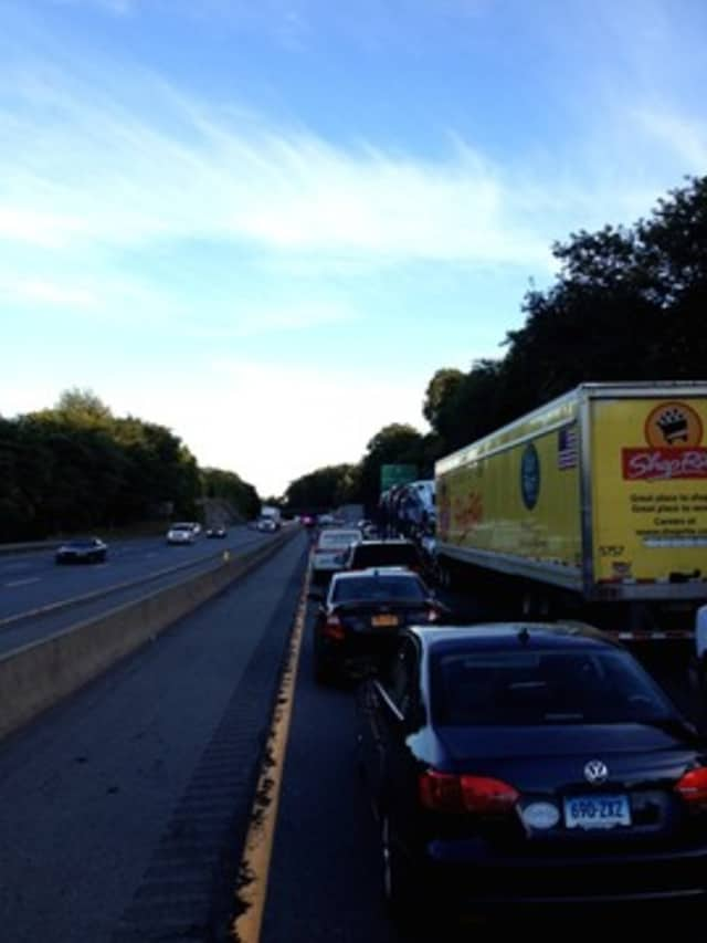 An accident on 287 caused delays that made a bride and groom late to their reception.