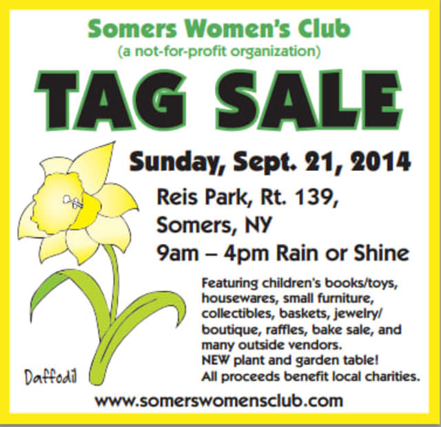 The Somers Women's Club tag sale will be Sunday, Sept. 21.