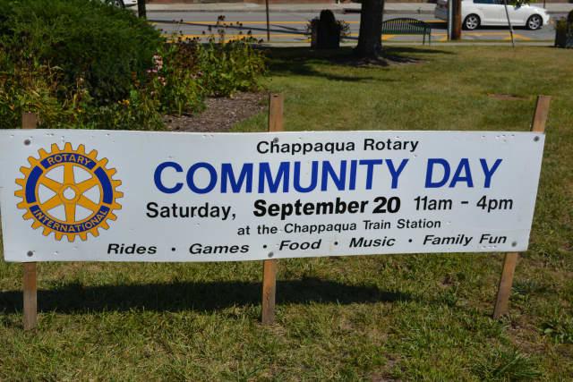 Chappaqua Rotary Community Day will take place Saturday, Sept. 20, at the Chappaqua train station.