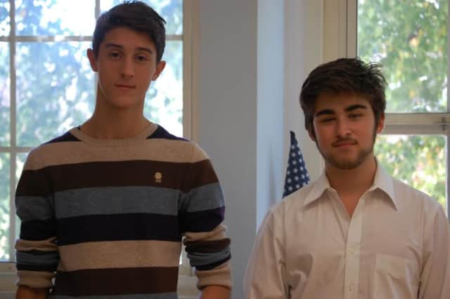 Andrew Ravitch and Noah Mazer are recognized  as academically outstanding Hispanic/Latino high school students.