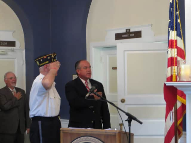 Eastchester officials participated in a 9/11 Memorial service last week.