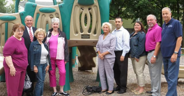 The Eastchester Women's Club presented Supervisor Anthony S. Colavita and the Eastchester Recreation Department with a 5,000 check to renovate Joyce Road playground.