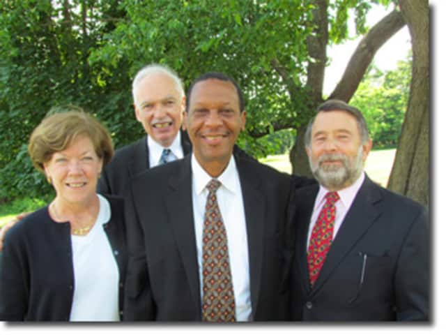 Board officers from left: Deborah A. Clark, John P. McLaughlin, Conrad Harris and Steven J. Friedman
