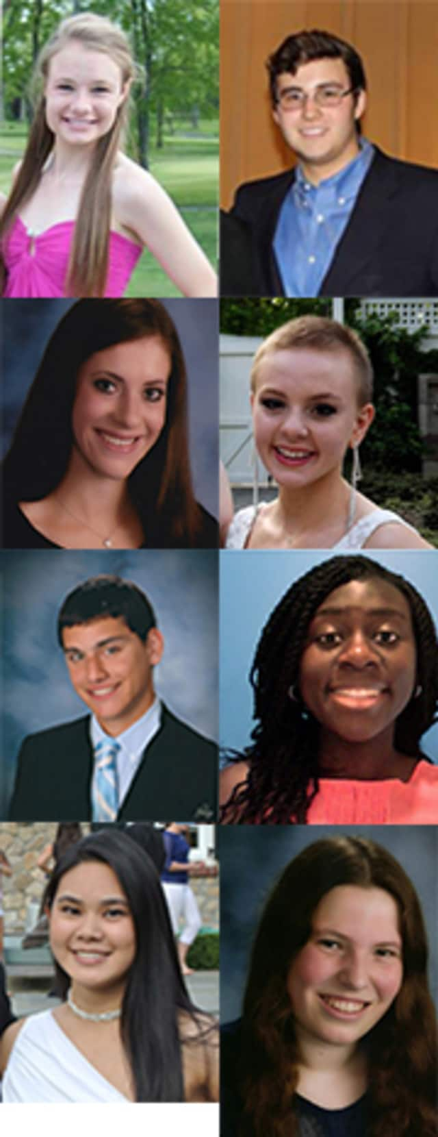 A number of students received scholarships from the Darien Community Association.