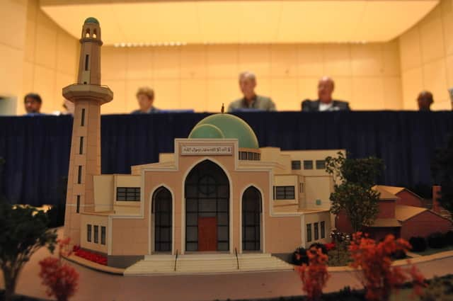 This model of the mosque proposed for Norwalk was shown during a Zoning Commission's public hearing in 2012.