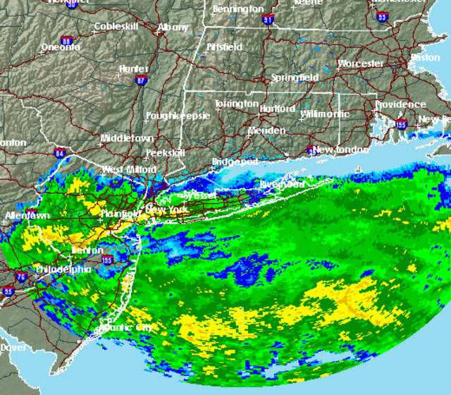 A Nor'easter is expected to bring rain and wind to Westchester on Thursday.
