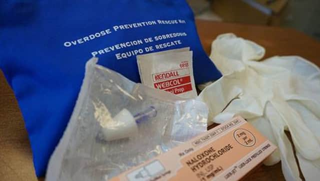 A photo of a heroin overdose antidote.