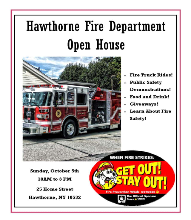 Hawthorne Fire Department hosts an open house as part of its Fire Prevention Week.