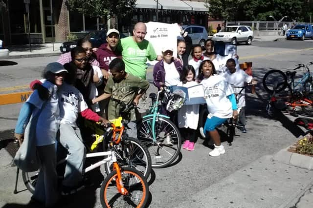 Participants get ready to roll during Mount Vernon's first Bike-A-Thon in 2013.