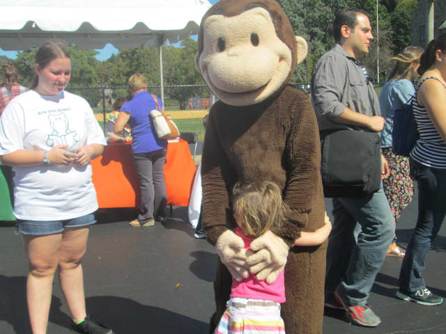 Curious George at the Chappaqua Children's Book Festival