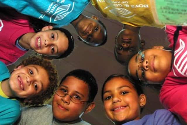 Some of the New Rochelle children that have benefitted from the Fosina family's contributions.