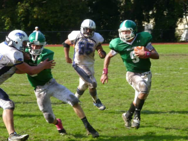 Irvington High School's football team recently defeated Briarcliff, 19-7.