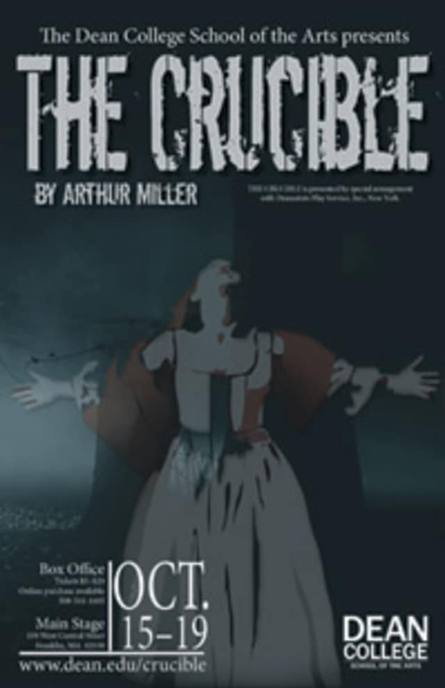 Dean College Theatre Department presents The Crucible with Larchmont's Bernardo Brandt as the main role.