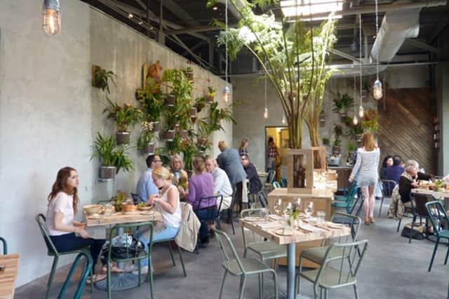 Diners enjoy a meal at Terrain Garden Cafe, during a past Westport Restaurant Week.
