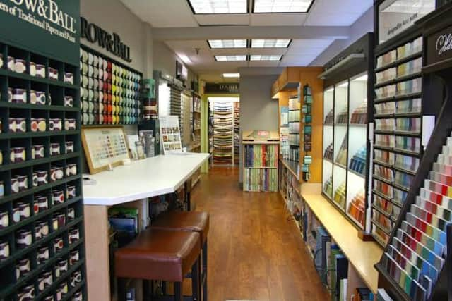 Ring's End Darien now has a full array of home fashions, such as window treatments, wall coverings and fabrics.