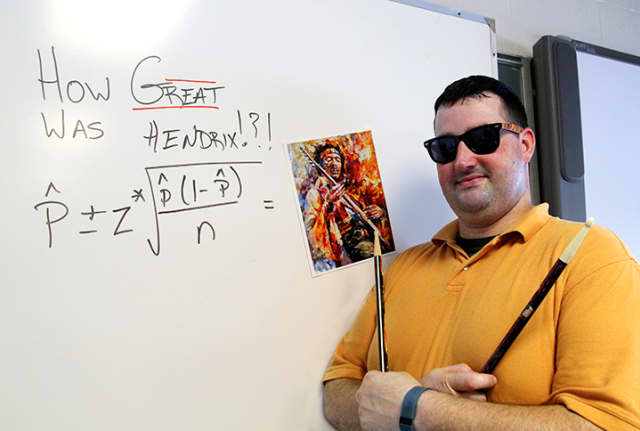 Math teacher Brian McClintock has rock and roll all figured out.
